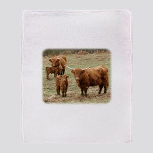 Highland Cattle 9Y316D-055 Throw Blanket