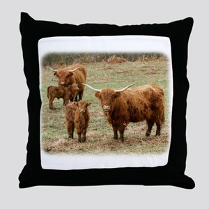 Highland Cattle 9Y316D-055 Throw Pillow