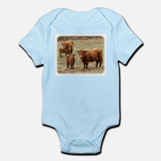 Highland Cattle 9Y316D-055 Infant Bodysuit