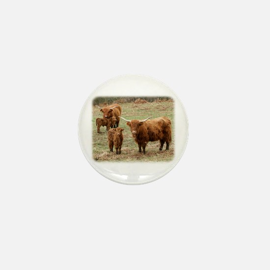 Highland Cattle 9Y316D-055 Mini Button