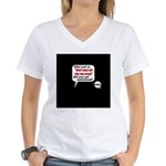 Don't Piss Off The Run Crew! Women's V-Neck T-Shir