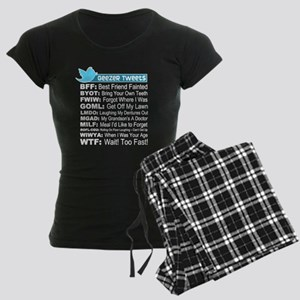 Geezer Tweets Women's Dark Pajamas