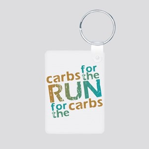 RUN Carbs Aluminum Photo Keychain
