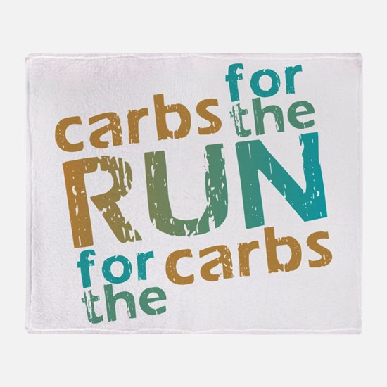 RUN Carbs Throw Blanket