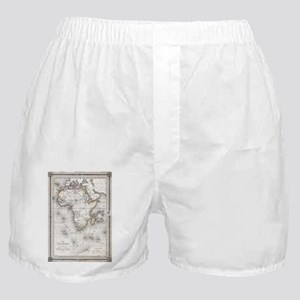 Vintage Map of Africa (1852) Boxer Shorts