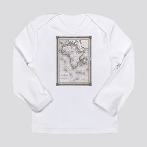 Vintage Map of Africa (1852) Long Sleeve T-Shirt