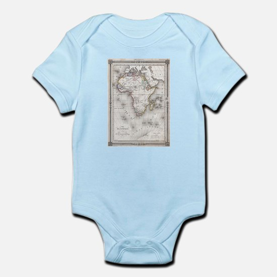 Vintage Map of Africa (1852) Body Suit