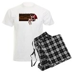 Anime Sleeping Succubus Art on Men's Light Pajamas