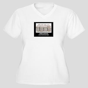 Trillions Women's Plus Size V-Neck T-Shirt