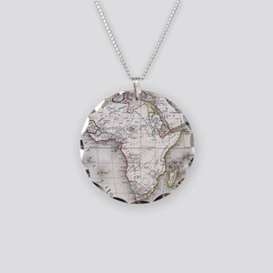 Vintage Map of Africa (1852) Necklace Circle Charm