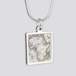 Vintage Map of Africa (1852) Necklaces