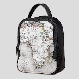 Vintage Map of Africa (1852) Neoprene Lunch Bag
