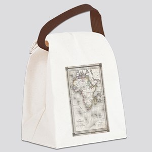 Vintage Map of Africa (1852) Canvas Lunch Bag