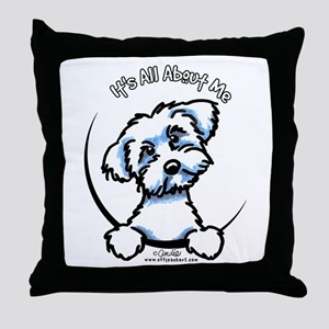 Maltese IAAM Throw Pillow