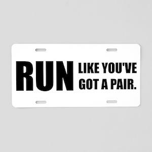 RUN Aluminum License Plate