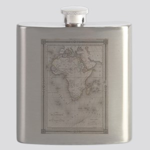 Vintage Map of Africa (1852) Flask