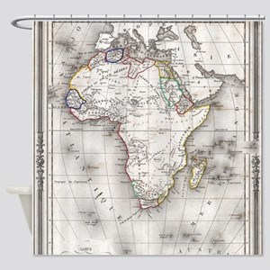 Vintage Map of Africa (1852) Shower Curtain