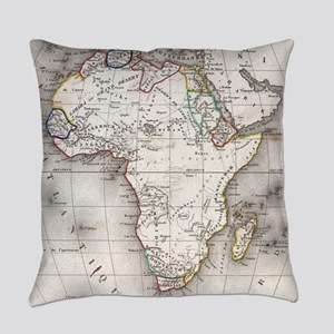 Vintage Map of Africa (1852) Everyday Pillow