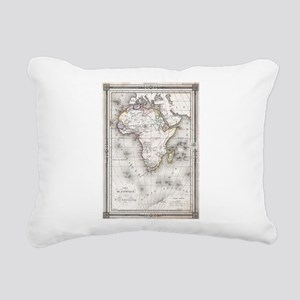Vintage Map of Africa (1 Rectangular Canvas Pillow