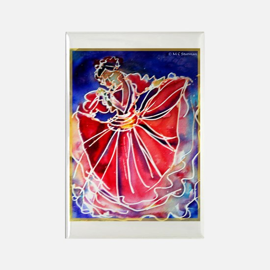 Fiesta Dancer, Bright, Rectangle Magnet