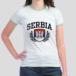 Serbia Jr. Ringer T-Shirt