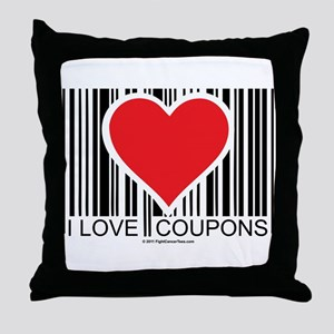 I Love Coupons Throw Pillow