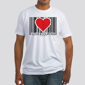 I Love Coupons Fitted T-Shirt