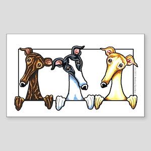Greyhound Lover Sticker (Rectangle)