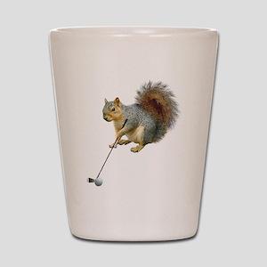 Golfing Squirrel Shot Glass