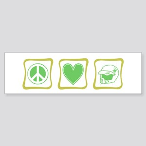 Peace, Love and Dirt Bikes Sq Sticker (Bumper)