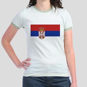 Flag of Serbia Jr. Ringer T-Shirt