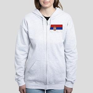 Flag of Serbia Women's Zip Hoodie