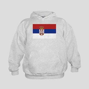 Flag of Serbia Kids Hoodie