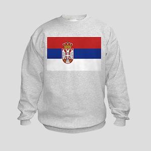 Flag of Serbia Kids Sweatshirt