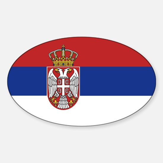 Flag of Serbia Sticker (Oval)