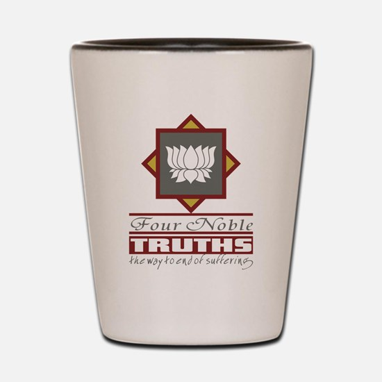 Buddhism Four Noble Truths Shot Glass