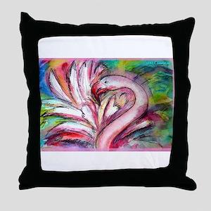 Flamingo, colorful, Throw Pillow