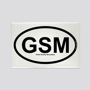 GSM - Great Smoky Mountains Rectangle Magnet