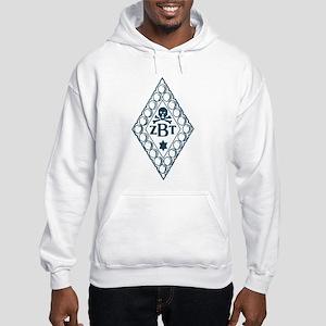 Zeta Beta Tau Badge in Blue Hooded Sweatshirt