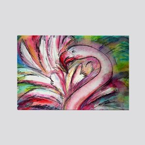 Flamingo, colorful, Rectangle Magnet