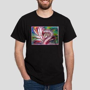 Flamingo, colorful, Dark T-Shirt