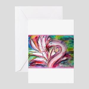 Flamingo, colorful, Greeting Card