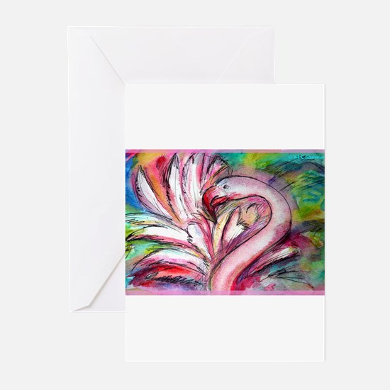 Flamingo, colorful, Greeting Cards (Pk of 20)