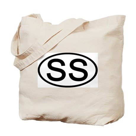 SS - Initial Oval Tote Bag
