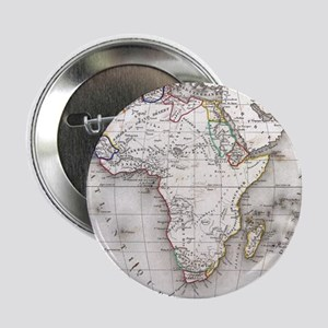 """Vintage Map of Africa (1852) 2.25"""" Button"""