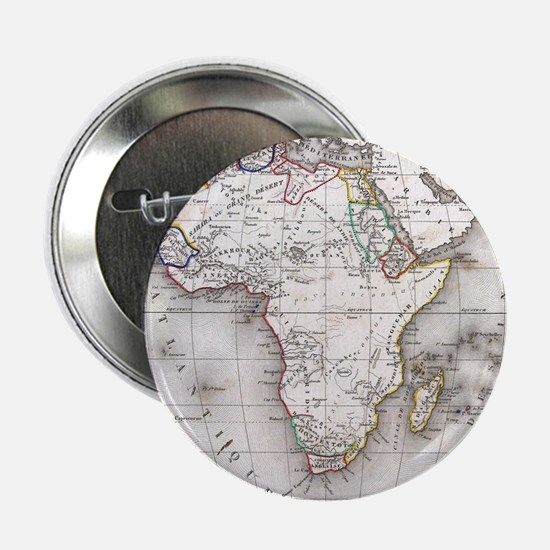 "Vintage Map of Africa (1852) 2.25"" Button"
