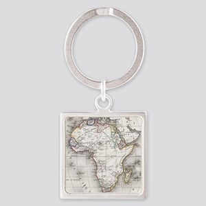 Vintage Map of Africa (1852) Keychains