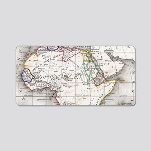 Vintage Map of Africa (1852 Aluminum License Plate