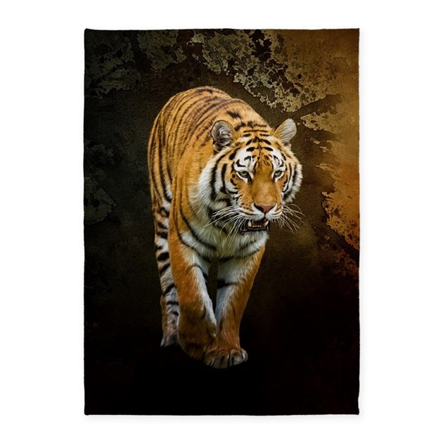 Siberian Tiger 5'x7'Area Rug By Gatterwe