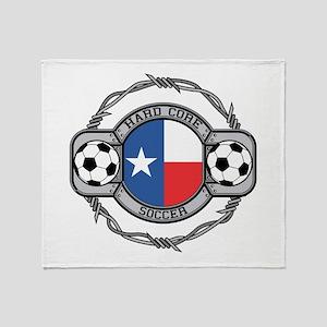 Texas Soccer Throw Blanket